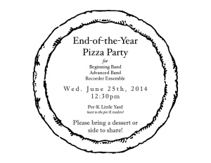 Pizza Party Invite June 2014